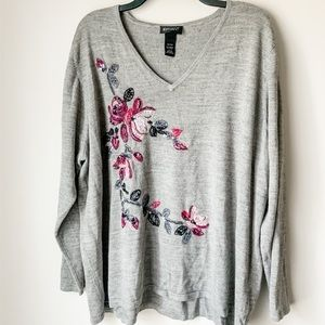 Lane Bryant Floral V Neck Sweater - 26/28